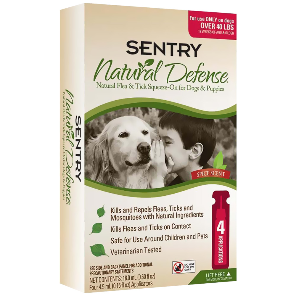 SENTRY-NATURAL-DEFENSE-FLEA-AND-TICK-SQUEEZE-ON-FOR-DOGS-OVER-40-LBS-4-PACK