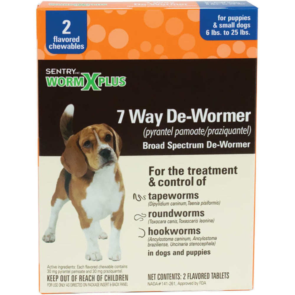Sentry Worm X Plus 7 Way De-Wormer - Small Dogs (6 count) im test