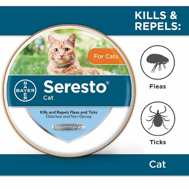 Open container for Seresto cat flea tick collar