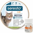 Seresto Flea & Tick Collar for Cats + Tapeworm Dewormer for Cats (3 Tablets)