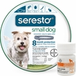 Seresto Flea & Tick Collar for Small Dogs + Tapeworm Dewormer for Dogs (5 Tablets)