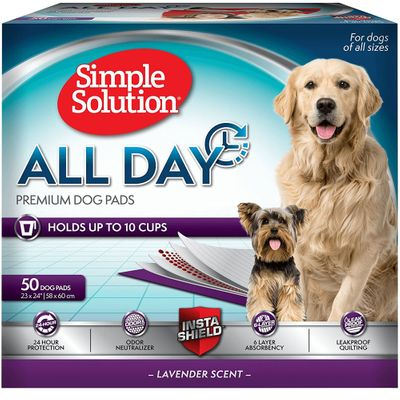 """Simple Solution All Day Premium Dog Pads - 50 Pad Pack (23""""x24"""")"""