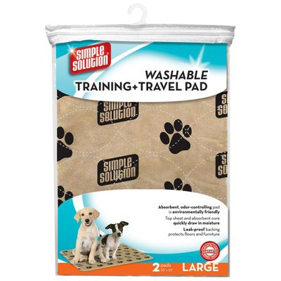 Simple Solution Washable Training & Travel Pad - 2 Pad Pack (XXLarge)