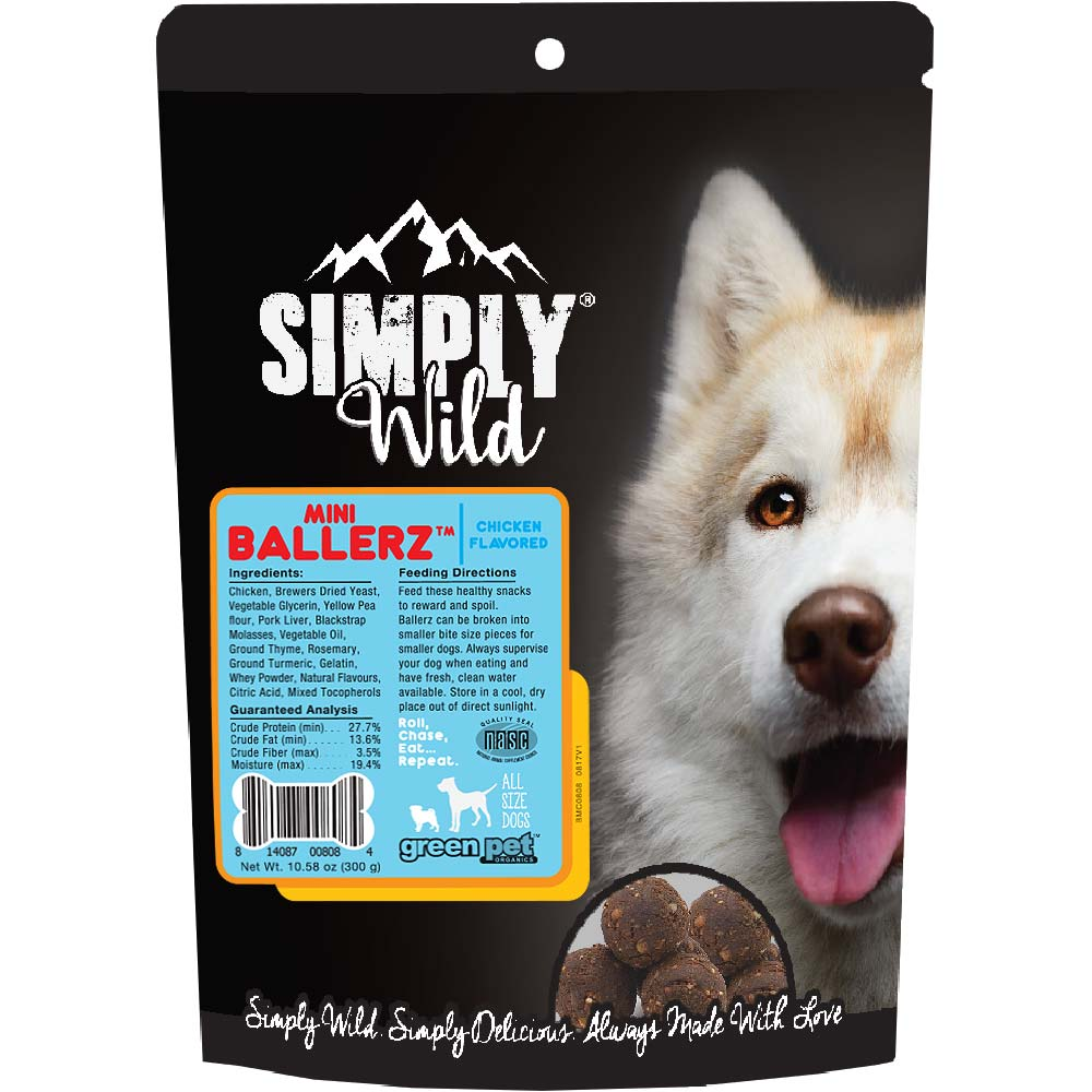 Simply Wild Mini Ballerz Chicken Dog Treats (10.5 oz) im test