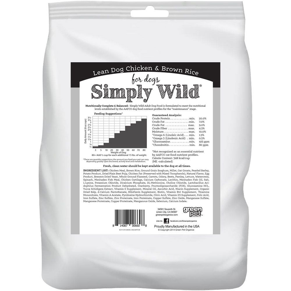 SIMPLY-WILD-LEAN-DOG-CHICKEN-BROWN-RICE-DOG-FOOD-20-LBS