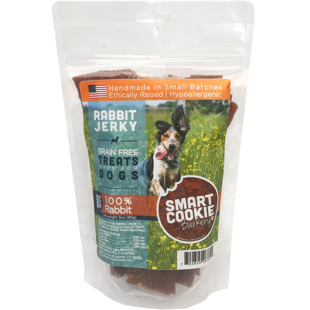 Smart Cookie Bakery Rabbit Jerky Strips (3 oz) im test