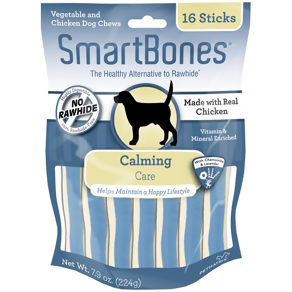 Image of SmartBones Chicken Dog Chews - Calming - 16 Sticks - from EntirelyPets