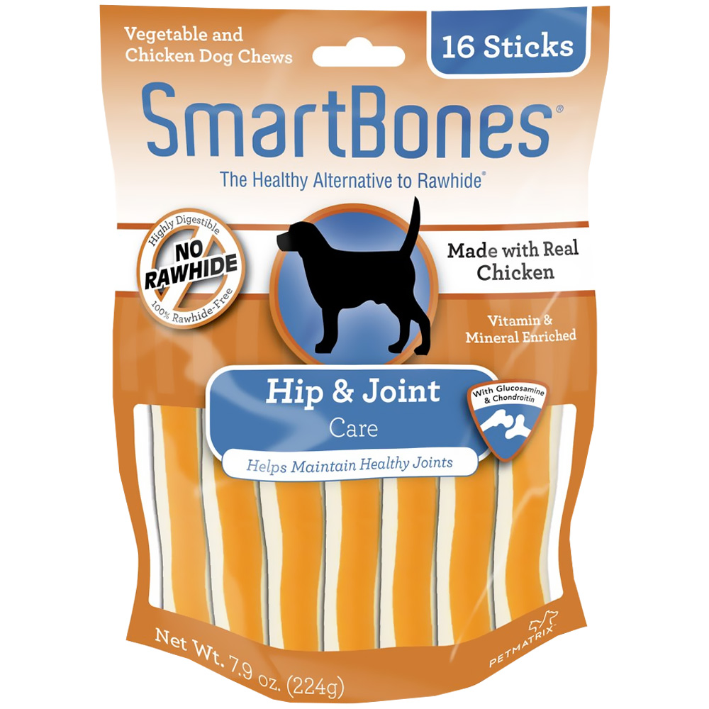 Image of SmartBones Chicken Dog Chews - Hip & Joint - 16 Sticks - from EntirelyPets