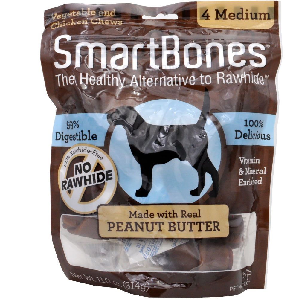 Package of Peanut Butter flavored Smartbones chews