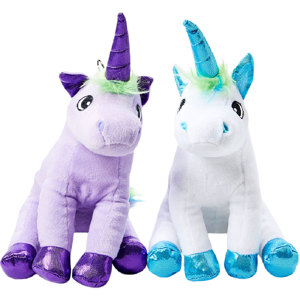 "SnugArooz Rainbow the Unicorn Dog Toy - Assorted Colors (13"")"
