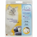 Soft Claws Nail Caps for Cats 40 Count Pack - Clear (Large)