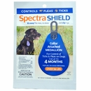 Spectra Shield flea & tick Medallion for Large Dogs (over 56 lb) BLUE