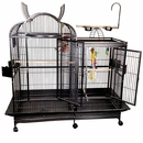 "Split Level House Bird Cage - White (42""x26""x61"")"
