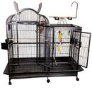 """Split Level House Bird Cage with Divider - Black (69""""x28""""x74"""")"""