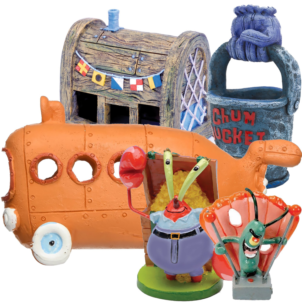 SPONGEBOB-BIKINI-BOTTOM-AQUARIUM-ORNAMENTS