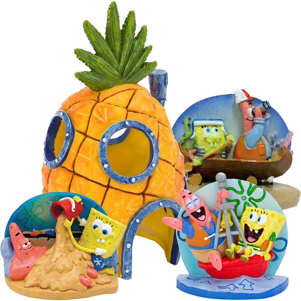 SPONGEBOB-PATRICK-AQUARIUM-ORNAMENTS