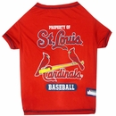 St. Louis Cardinals Dog Tee Shirt - Medium