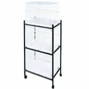 Stand for 503 Flight Cages  3 Tier - White