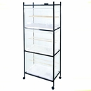 Stand for 503 Flight Cages  4 Tier - White