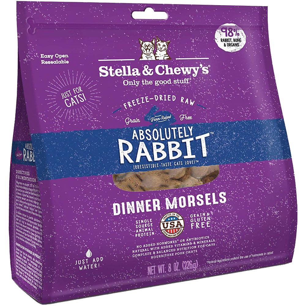 Image of Stella & Chewy's Absolutely Rabbit Dinner Morsels Freeze Dried Raw Cat Food (9 oz)