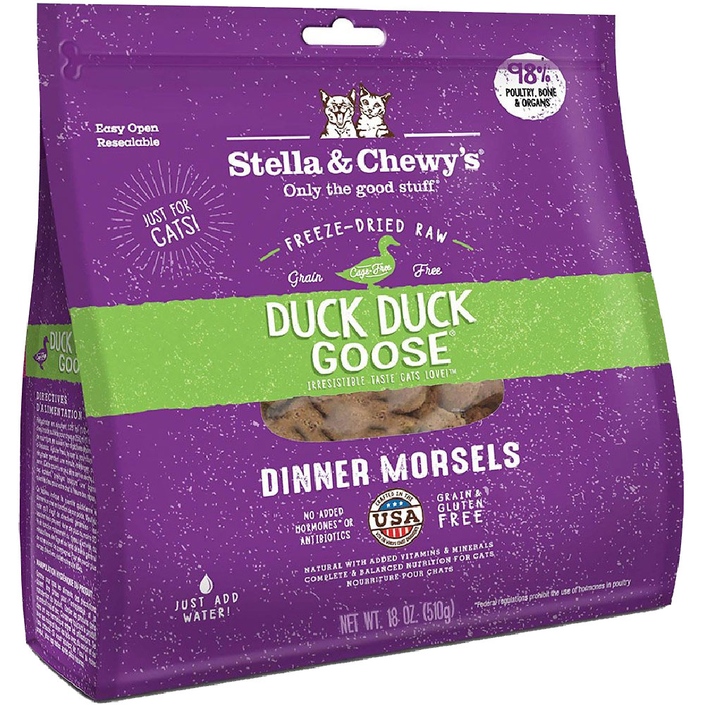 STELLA-CHEWYS-FREEZE-DRIED-DUCK-DUCK-GOOSE-DINNER-MORSELS-CATS-18-OZ