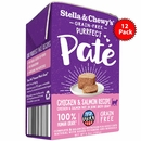 Stella & Chewy's Purrfect Pate - Chicken & Salmon Medley Cat Food 12/5.5oz