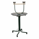 """T-Stand with Casters and Stainless Steel Dishes - Black (28""""x28""""x53"""")"""