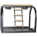 Table Stand with Ladders and Cups - Black (21''x14''x18'')