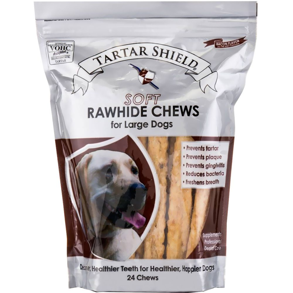 Tartar Shield Soft Rawhide Chews for Large Dogs (24 count) im test
