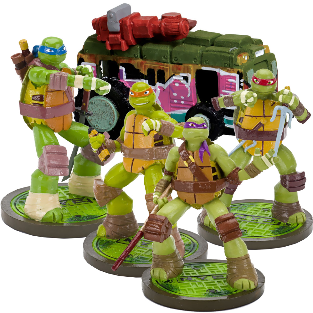 TEENAGE-MUTANT-NINJA-TURTLES-AQUARIUM-ORNAMENT-SETS