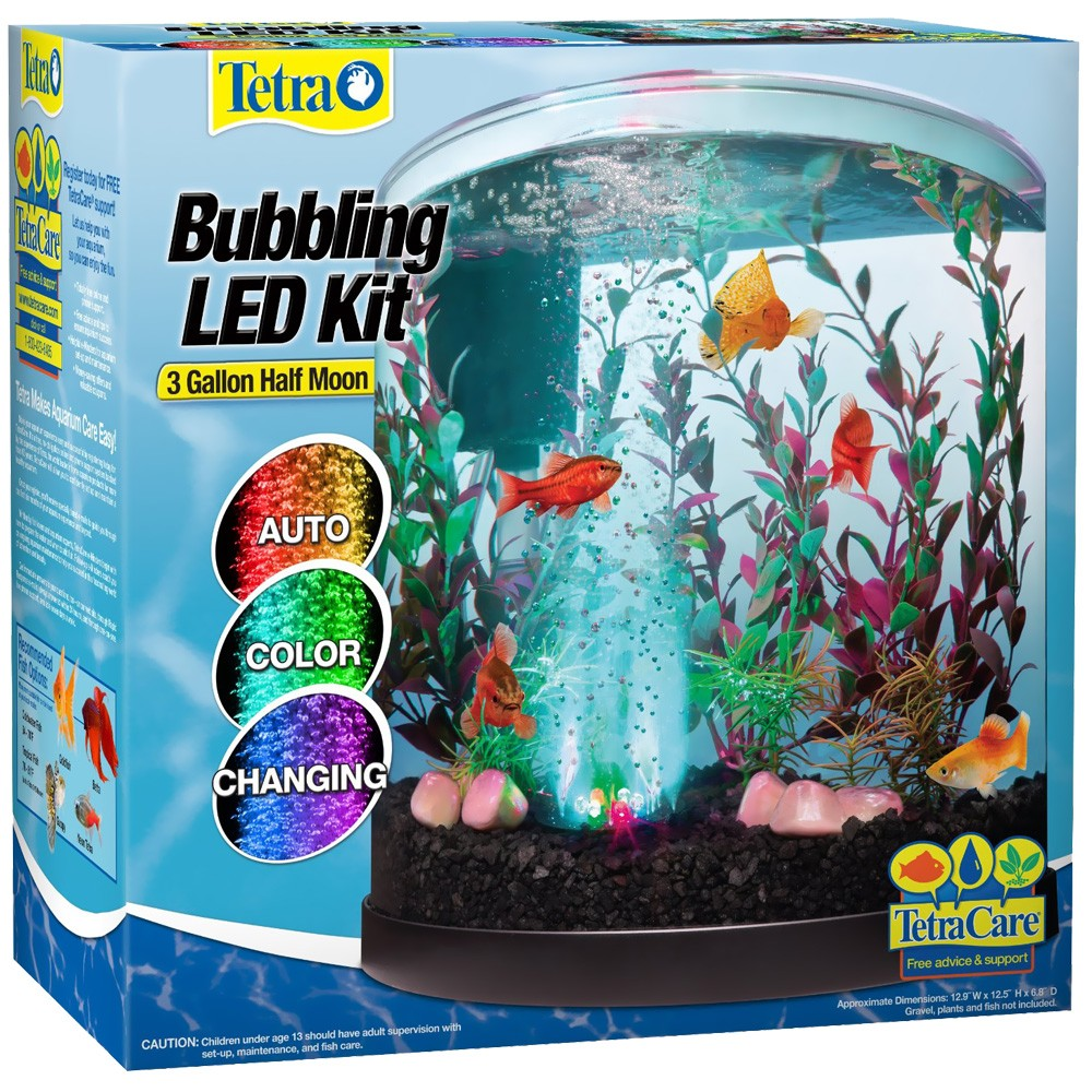 Image of Tetra Bubbling LED Half Moon Aquarium