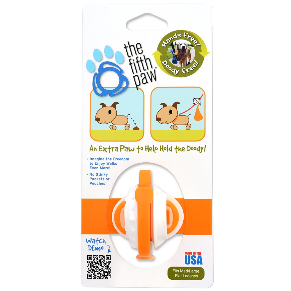 THE-FIFTH-PAW-HANDS-FREE-POOP-BAG-CARRIER-TANGERINE