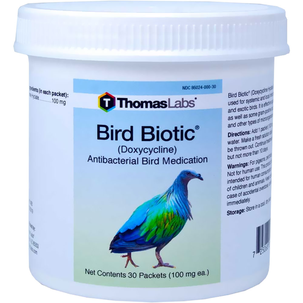 THOMAS-LABS-BIRD-BIOTIC-100-MG-DOXYCYCLINE-POWDER-30-PACKETS