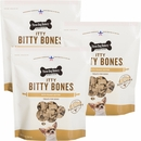 Three Dog Bakery Itty Bitty Bones Peanut Butter 3-PACK (6 lb)