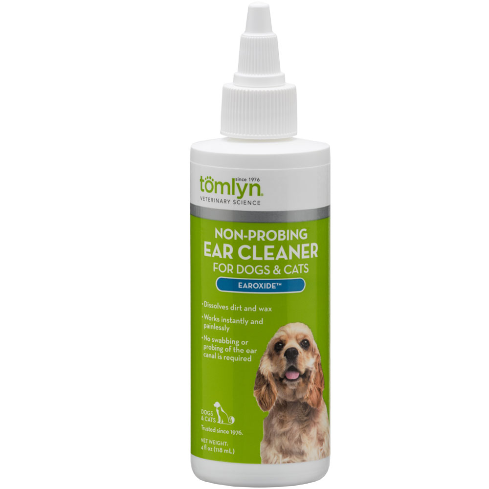Image of Tomlyn Earoxide Non-Probing Ear Cleaner for Dogs & Cats - 4 fl oz - from EntirelyPets