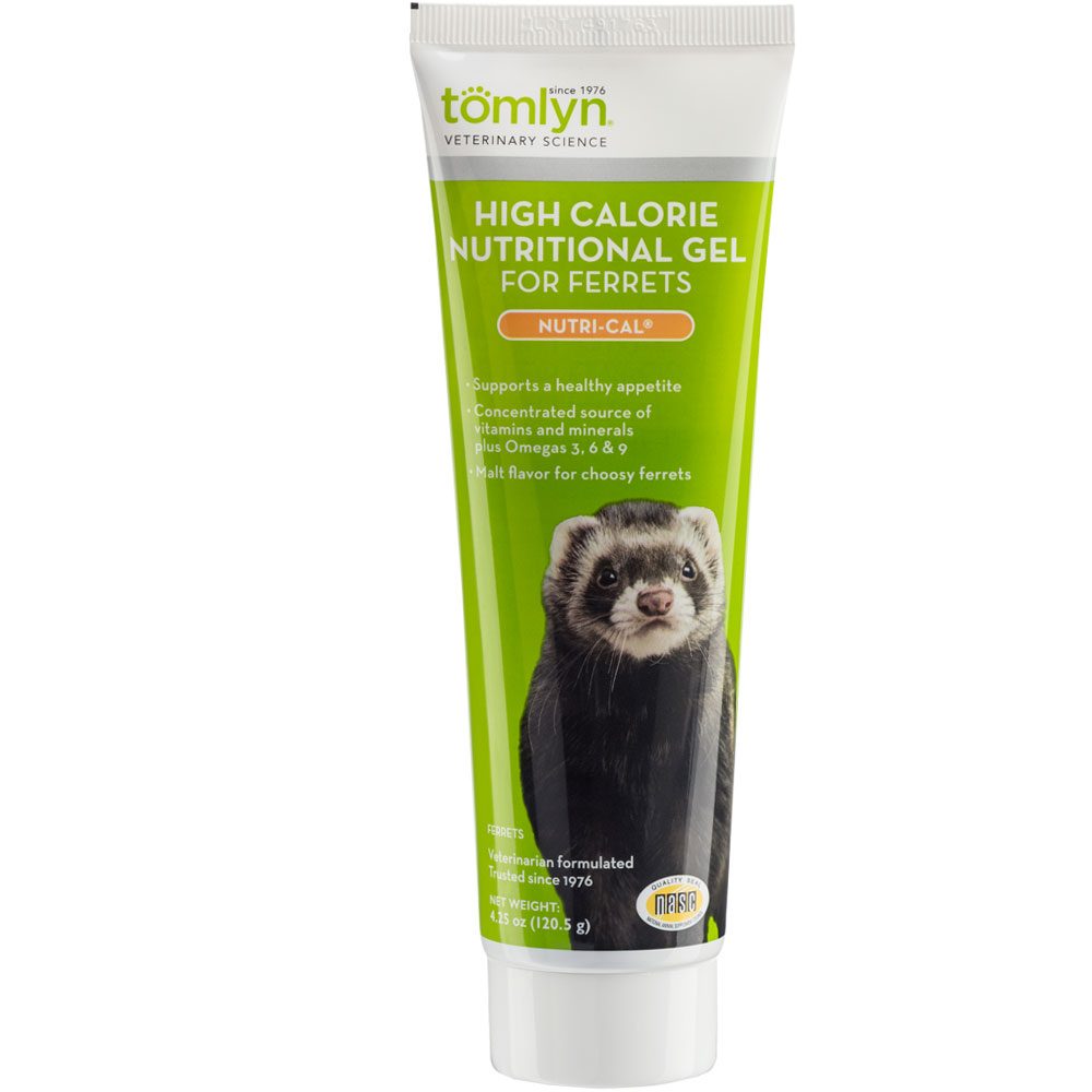 Tube of high calorie nutritional gel for ferrets