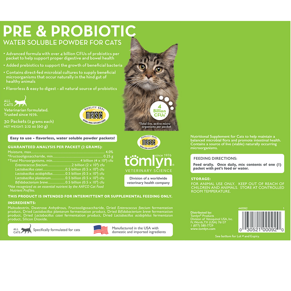 TOMLYN-PRE-PROBIOTIC-WATER-SOLUBLE-POWDER-CATS-30-PACKETS