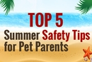 Top 5 Summer Safety Tips for Pet Parents [Infographic]