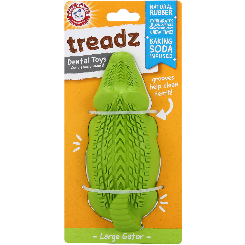 Treadz Dental Toy for Dogs - Gator (Large) im test