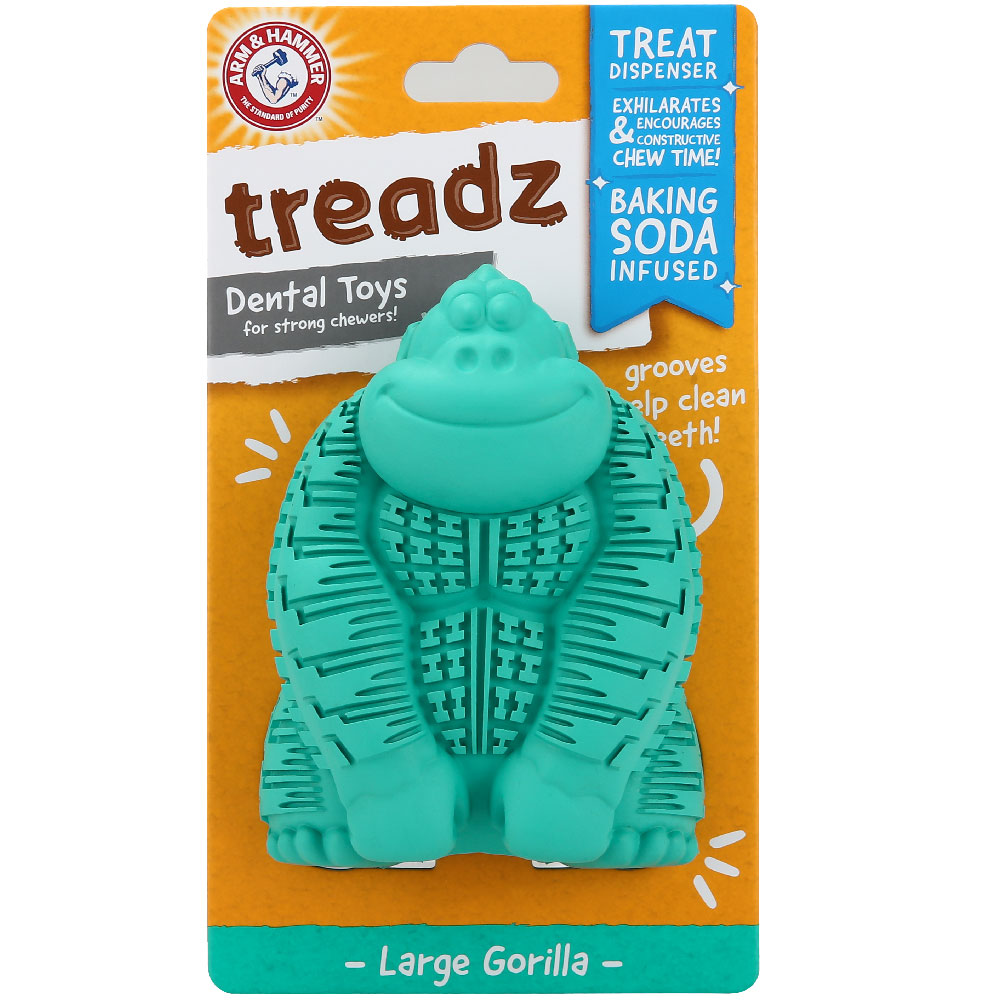 Treadz Dental Toy for Dogs - Gorilla (Large) im test