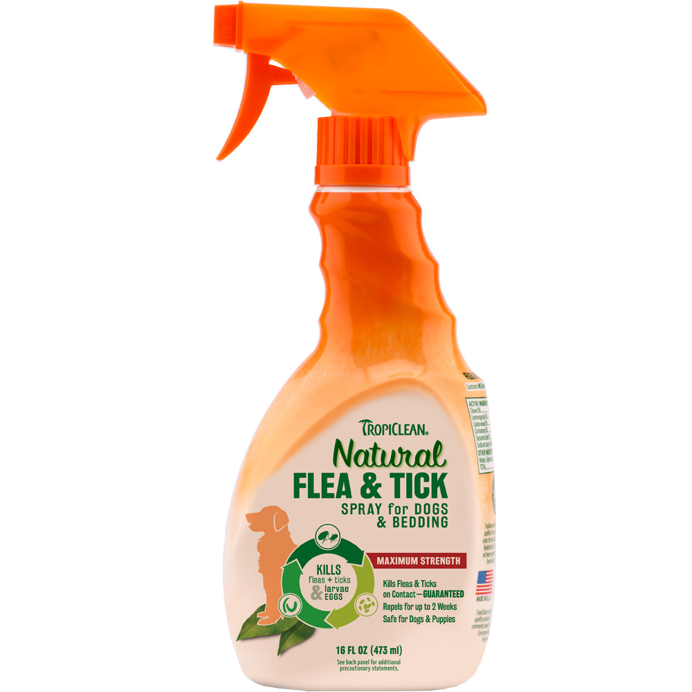Tropiclean Natural Flea & Tick Spray for Dogs & Bedding (16 fl oz) im test