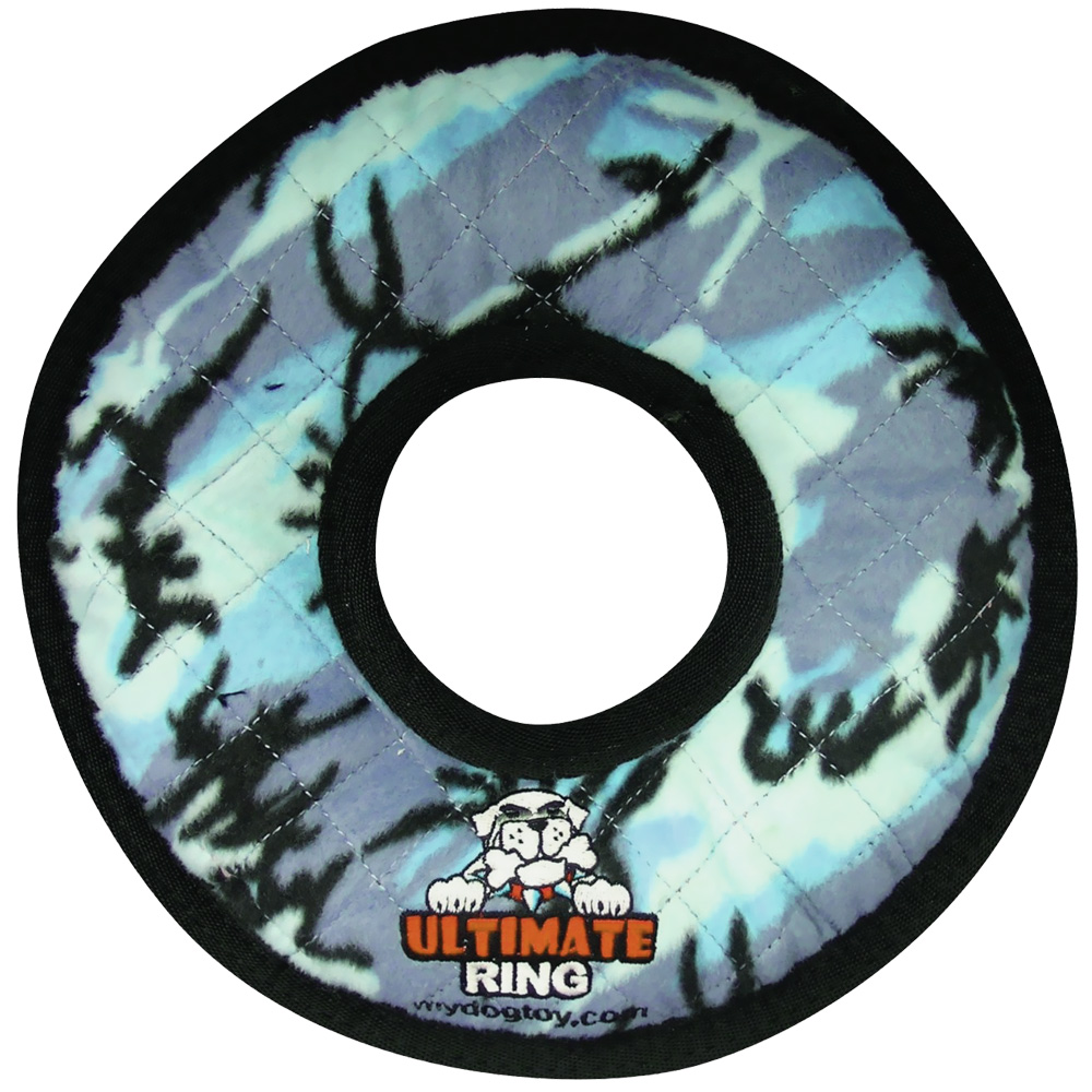 Tuffy's Ultimate Ring Blue Camo Dog Toy im test