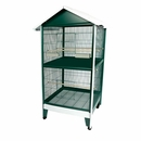 """Two Story Pitched Roof Aviary - Green (38""""x29""""x74"""")"""