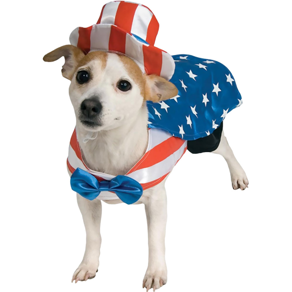 Image of Uncle Sam USA Dog Costume - Small from EntirelyPets