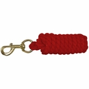 """Valhoma Lead Cotton 3/4"""" x 10' Rope w/ Bolt Snap - Red"""