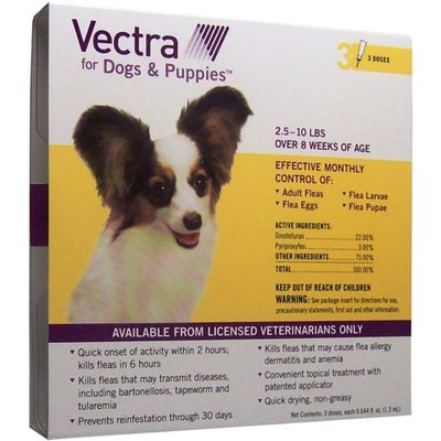 Vectra for Dogs & Puppies 2.5-10 lbs - 3 Doses