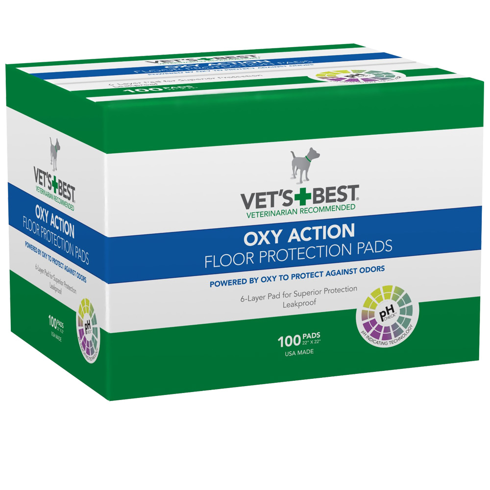 VETS-BEST-OXY-ACTION-FLOOR-PROTECTION-PADS-22X22-100-PADS
