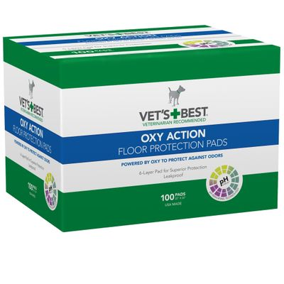 """Vet's Best OXY ACTION Floor Protection Pads 22"""" x 22"""" (100 pads)"""