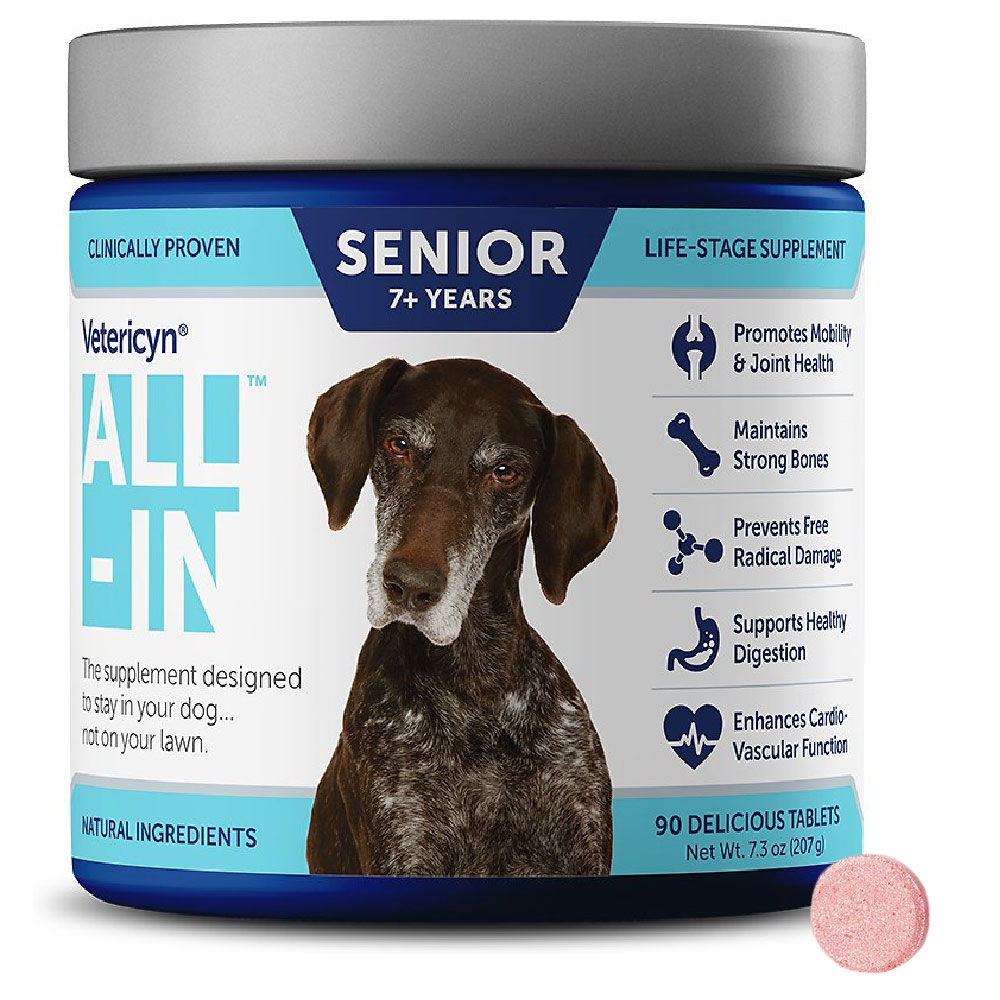 Vetericyn All-In Senior 7+ Years Life Stage Supplements 90 count im test