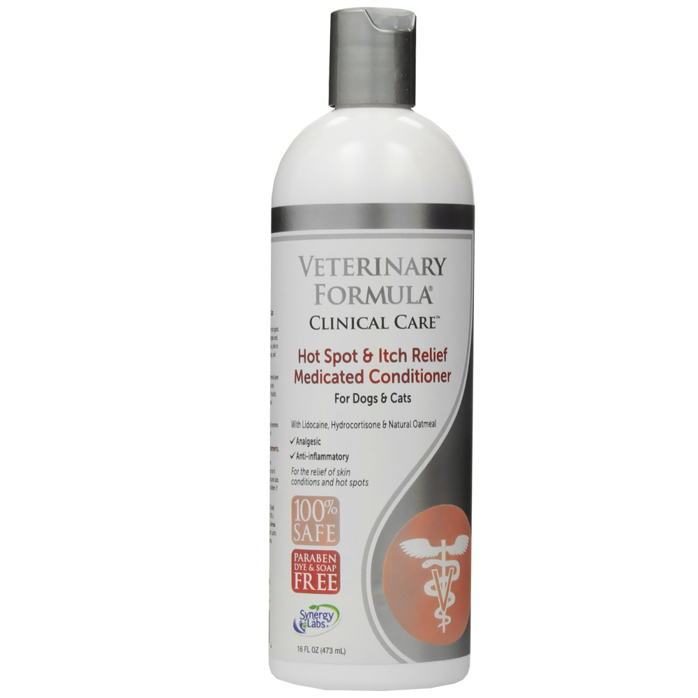 Veterinary Formula Clinical Care Hot Spot & Itch Relief Medicated  Conditioner for Dogs & Cats (16 fl oz)